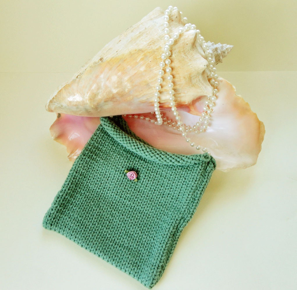 Handmade Knitting Bag Pattern : Handknit Childs Bag Handmade Knit Purse Childs by ...