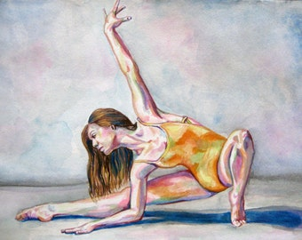 Original Dance Painting - Lunge to the Side