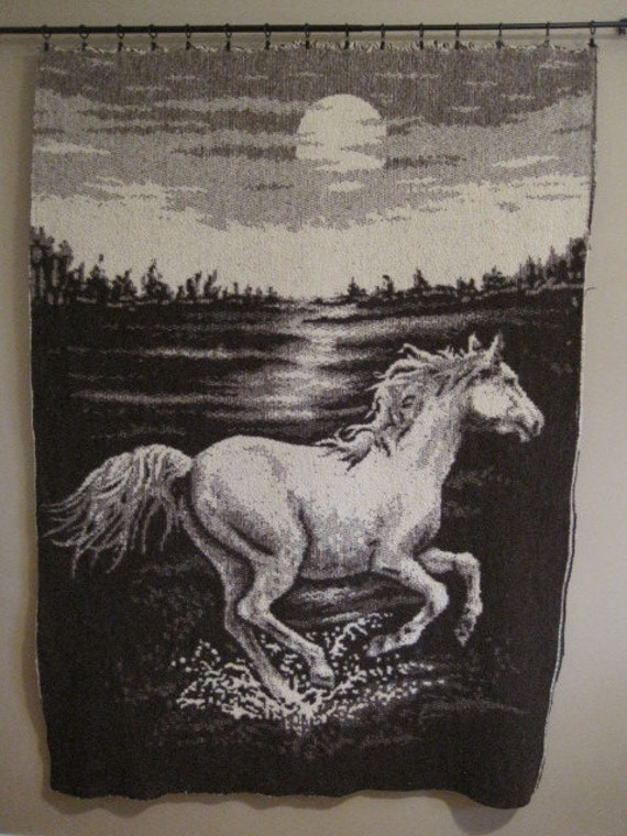 Items Similar To Horse Two Sided Blanket Wall Hanging