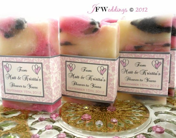 Wedding Gifts For Vegans : 20 Vegan SOAP Favors ~ Bridal Shower ~ Wedding ~ Pink Hearts with ...