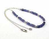 Reserved - Exquisite Tanzanite & Sterling Silver Necklace - N654