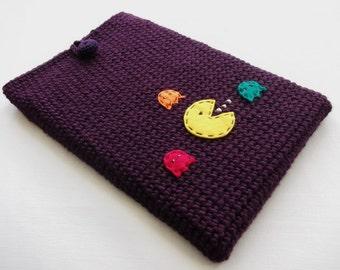 Crochet Laptop Sleeve 13 Inch, Mac Air Case, Mac Pro Case, Mac Book Case, Mac Book Sleeve - Pacman