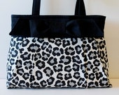 KATE Snow Leopard Purse with Bow