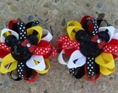 2 Disney Hair Bows Loopy hair bows Minnie Mouse Hair Bow