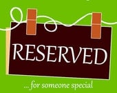 Reserved Custom Listing for Wendy