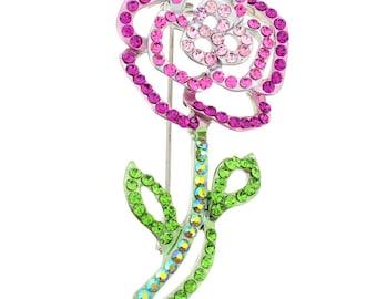 Pink Rose Brooch 1000831