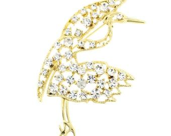 Crane Bird Pin Brooch 1003141