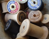 Vintage Wooden Sewing Spools Lot of 20