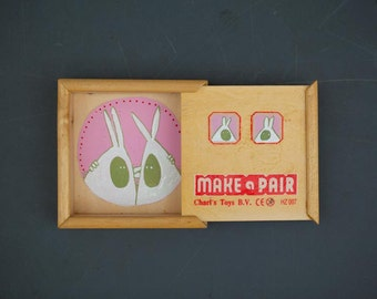 Make a Pair - handpainted wodden box