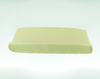 Light Green Minky Changing Pad Cover, Soft Minky Changing Pad Cover