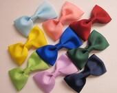 TEN--2.5 inch Tuxedo  Bows girls bows toddler bows