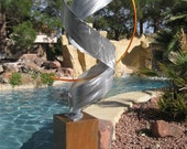 Silver Metal Art Home Decor Garden free standing Large sculpture  by Holly Lentz