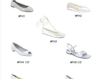 Wedding Shoes - Flats - Custom Flat Shoes - Design Your Own Shoes - Choose From Over 100 Colors - Choose Shoe Style - Wedding Flats Parisxox