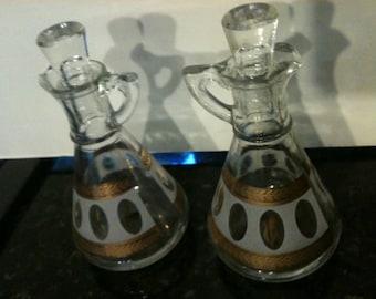 Set of Hazel Atlas Oil and Vinegar Bottles
