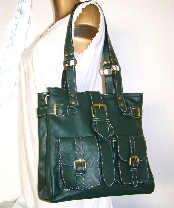 Orea M. Dark green Leather Bag / Leather Handbag / Shoulder / Crossbody Purse