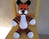 Adorable Hobbes doll from Calvin and Hobbes Crocheted -Carrot Color-