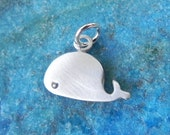 Baby whale sterling silver pendant