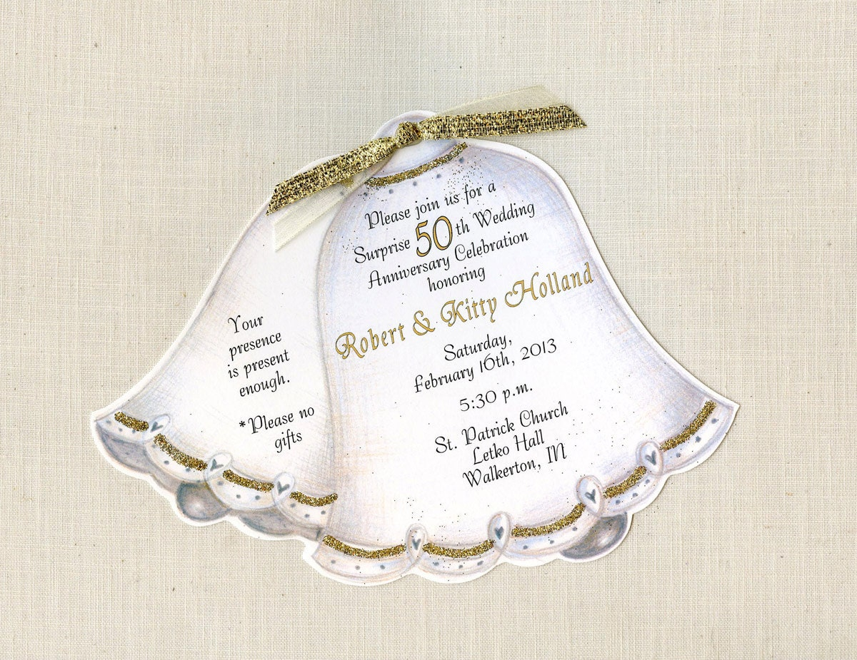 45 personalized and handcut party invitations 50th wedding for What is 50th wedding anniversary