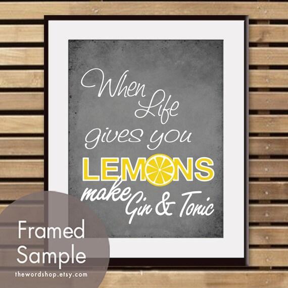 Quand la vie donne vous citrons faire gin and tonic art - Quand cueillir les citrons ...