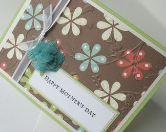 Mothers Day Greeting Card:  Handmade Blank Note Card -Spring Days