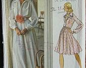 RARE Autograph by Oscar de la Renta Vintage 70's Misses' Dress in 2 Lengths, Evening Gown, Vogue 2880 Sewing Pattern Size 12