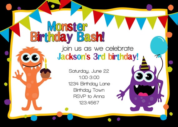 Bash Invitations Birthday Bash Invitation
