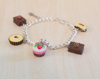 High Tea Cupcake Charm Bracelet