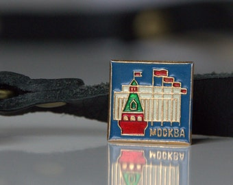 Tiny vintage pin from Soviet Russia, Moscow