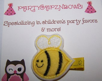 Infant / Toddler / Girls Felt Bumble Bee Hair Clip - Bumble Bee Hair Clippie