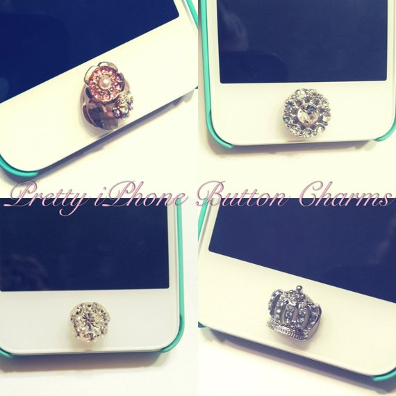 Adorable Small Crystal Button Sticker For IPhone Home Button