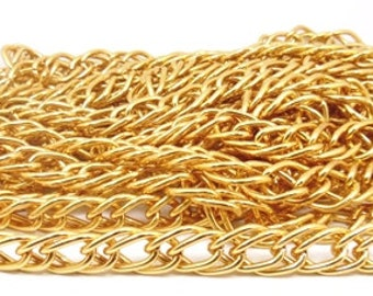 5 meters Gold plated large link Chain