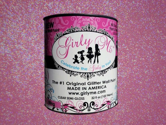 Gilry Me Glitter Wall Paint in BLING - Top Coat Semi Gloss Paint for Walls, Baby Room, Childrens Room, Boys and Girls
