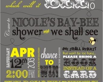 Baby Bee Shower Invitation