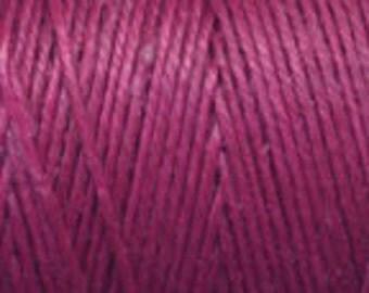 10 Yards Magenta 4ply Irish Waxed Linen Thread
