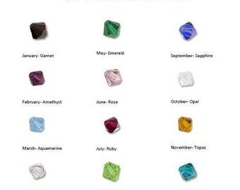 Birthstone Dangle, 4 mm Swarovski Crystal