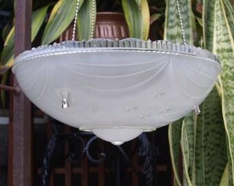stars stripes hanging light shade fixture bird feeder repurpose