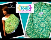 New and Improved Green Sprouts Damask BooB TooB Nursing Cover with POCKET