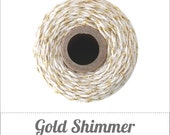 Gold Shimmer Twine - Metallic Gold & Natural Twine - 240 yard