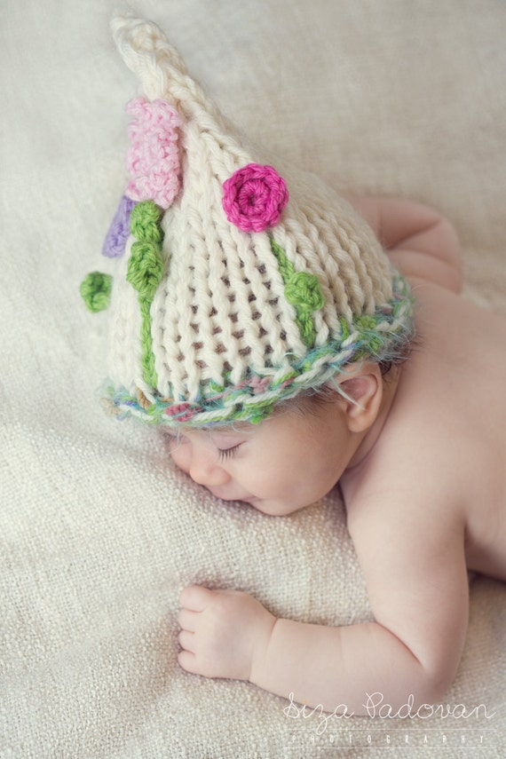 Baby Girl flower Hat Newborn Girl flower hat Photo Prop Newborn hat Baby flower hat Knit baby hat Crochet Infants Baptism Waiting for spring