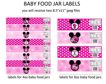 Popular items for baby food jars on etsy for Baby food jar label template