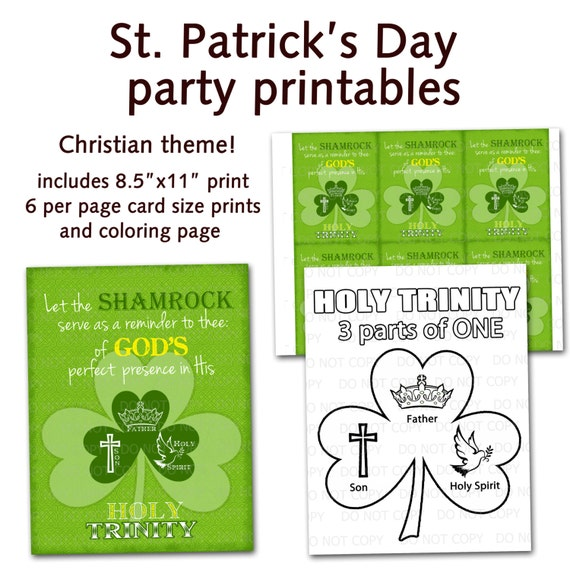 Printable Diy St Patrick S Day Christian By Onelovedesignsllc