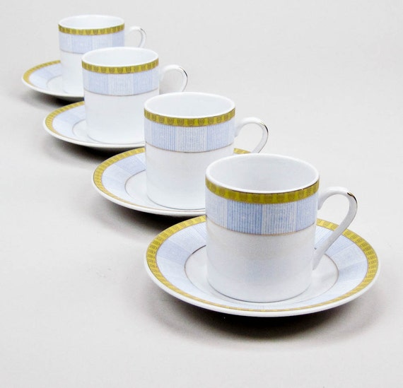 Vintage demitasse espresso turkish coffee cups by for Alpine cuisine fine porcelain