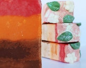 Orange Cream Handcrafted Soap with Shea Butter, vegan