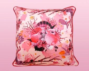 Reef Pillow - Pink/Orange