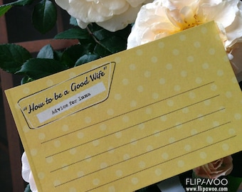 Retro Housewife Advice Card by FLIPAWOO  - Customized Printable File