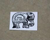 Elephant Sticker. Help kids in Africa.