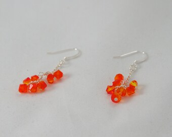 Silver Fire Earrings