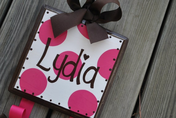 HairBow Holder - SIMPLICITY Design - Medium - Handpainted and Personalized Bow Holder