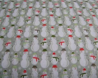 Gray Snowman Fabric by the Yard Riley Blake Designs  1 Yard