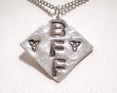 Initial Pendant, Intial Necklace, BFF Necklace, Friendship Necklace, Best Friend Necklace